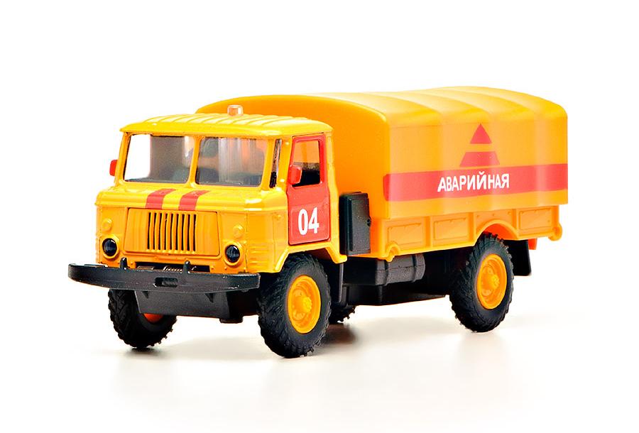 Машина металлическая инерционная - ГАЗ 66 - Аварийная, со светом и звукомГрузовые модели<br>Машина металлическая инерционная - ГАЗ 66 - Аварийная, со светом и звуком<br>