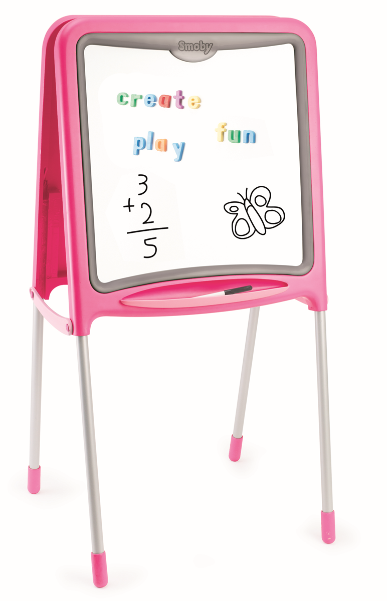 Двухсторонний складывающийся мольберт, розового цветаМольберты<br>Двухсторонний складывающийся мольберт, розового цвета<br>