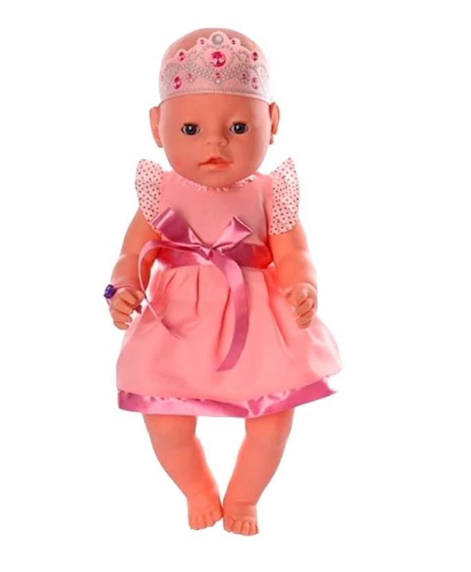 Купить Одежда для кукол - платье с поясом в наборе с короной, JUNFA TOYS