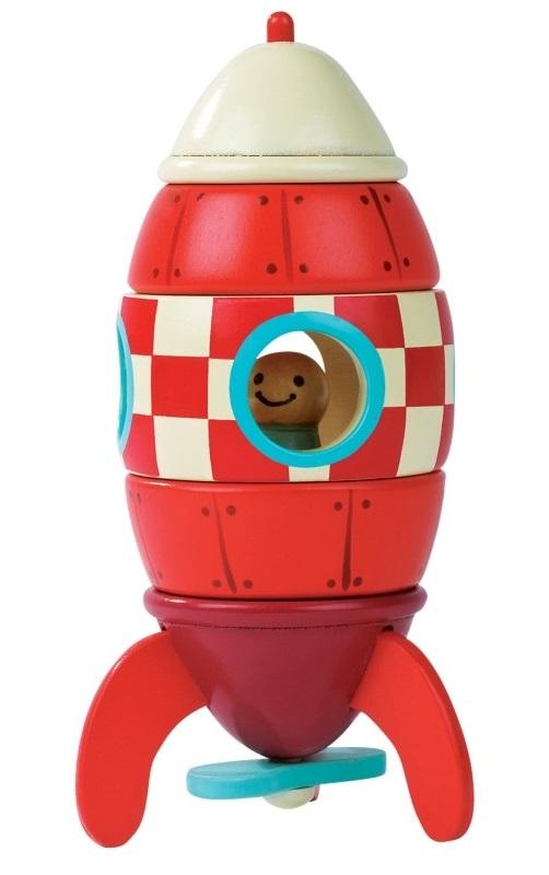 Деревянный конструктор на магнитах «Ракета»Паровозики и машинки<br>Деревянный конструктор на магнитах «Ракета»<br>