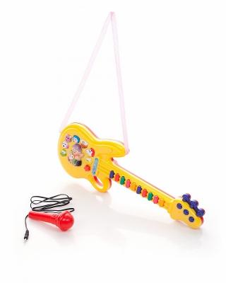 Детская гитара с микрофоном и 10 мелодиями - Гитары, артикул: 120854