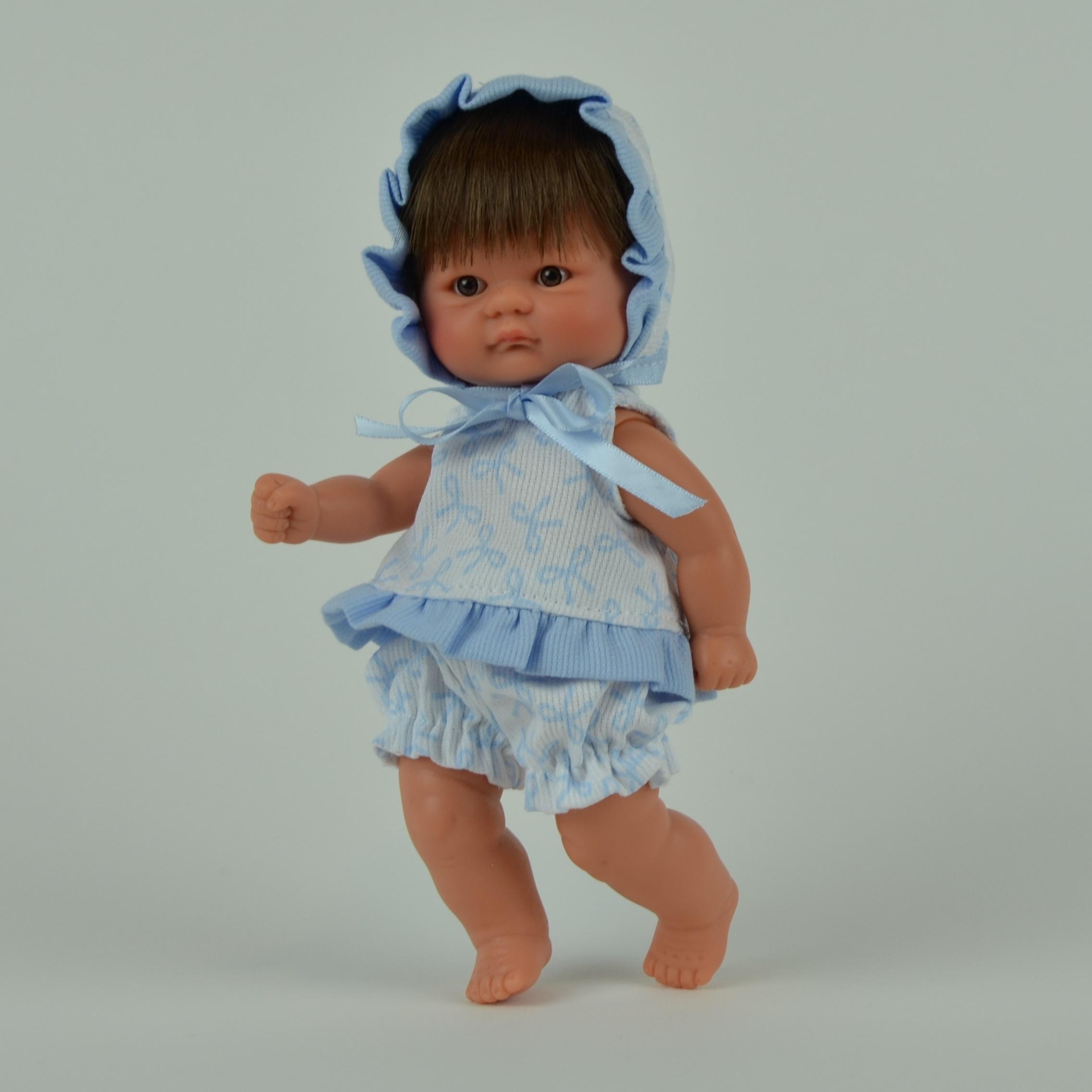 Кукла пупсик в синем костюмчике, 20 см.Куклы ASI (Испания)<br>Кукла пупсик в синем костюмчике, 20 см.<br>