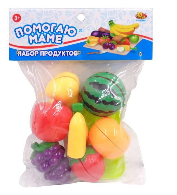 Набор Помогаю Маме - Набор продуктов для резки на липучкахАксессуары и техника для детской кухни<br>Набор Помогаю Маме - Набор продуктов для резки на липучках<br>