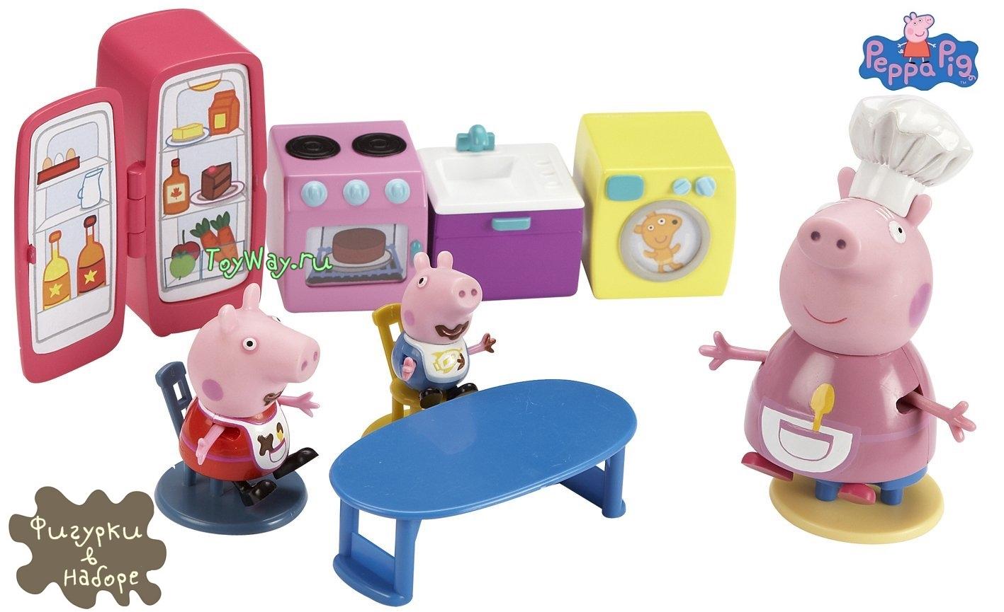 Peppa Pig. Кухня Пеппы + Бабушка, Пеппа и ДжорджДетские игровые кухни<br>Peppa Pig. Кухня Пеппы + Бабушка, Пеппа и Джордж<br>