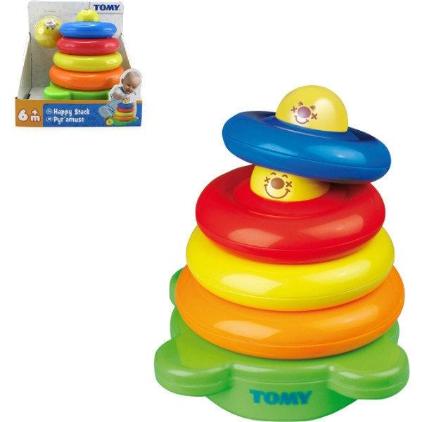 Развивающая игрушка - Веселая ПирамидкаСортеры, пирамидки<br>Развивающая игрушка - Веселая Пирамидка<br>