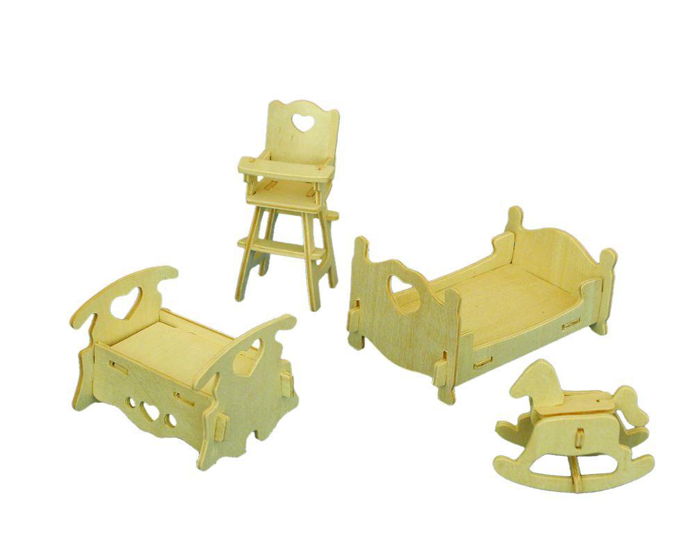 Модель деревянная сборная - СпальняПазлы объёмные 3D<br>Модель деревянная сборная - Спальня<br>