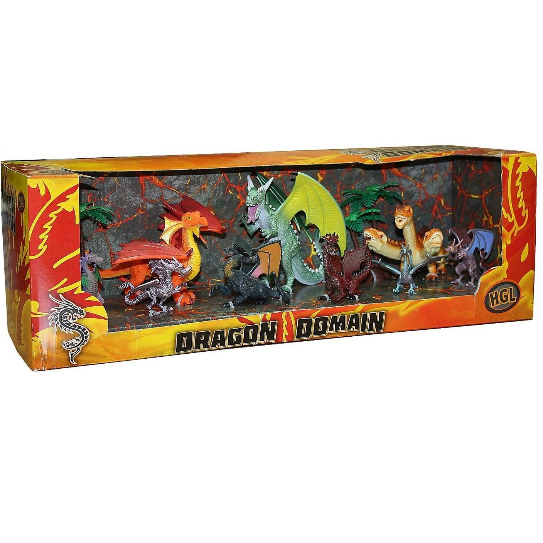 Игровой набор из 9 фигурок драконов и 2 деревьевМифические существа<br>Игровой набор из 9 фигурок драконов и 2 деревьев<br>