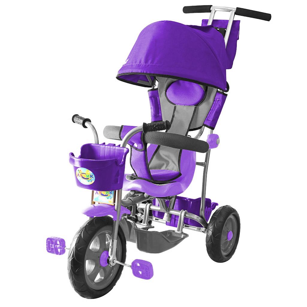 3-х колесный велосипед Galaxy Лучик Л001 с капюшоном, фиолетовый - Велосипеды детские, артикул: 158628