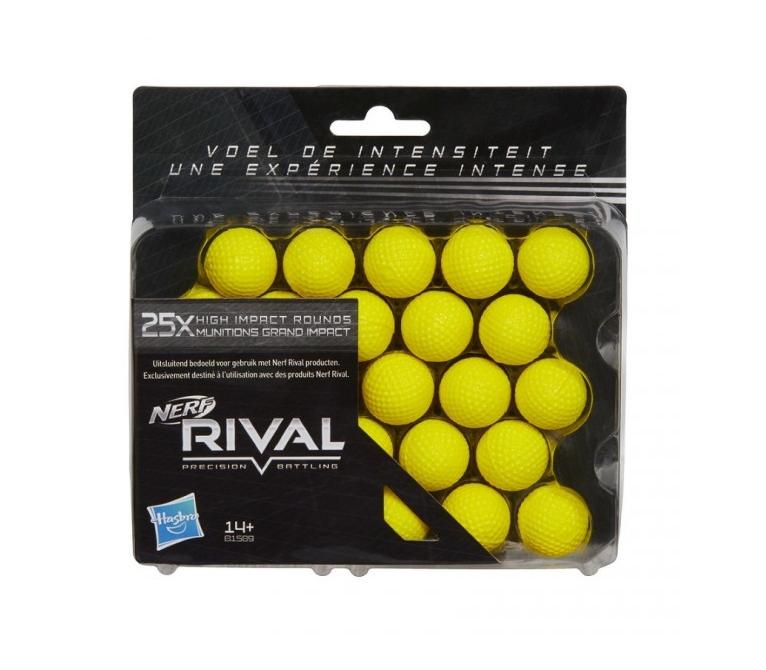 Набор из 25 шаров для бластеров серии Nerf RivalБластеры NERF Hasbro<br>Набор из 25 шаров для бластеров серии Nerf Rival<br>