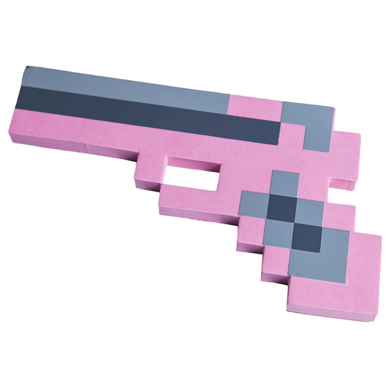 Купить Пистолет 8Бит Розовый пиксельный, 22 см., Pixel Crew