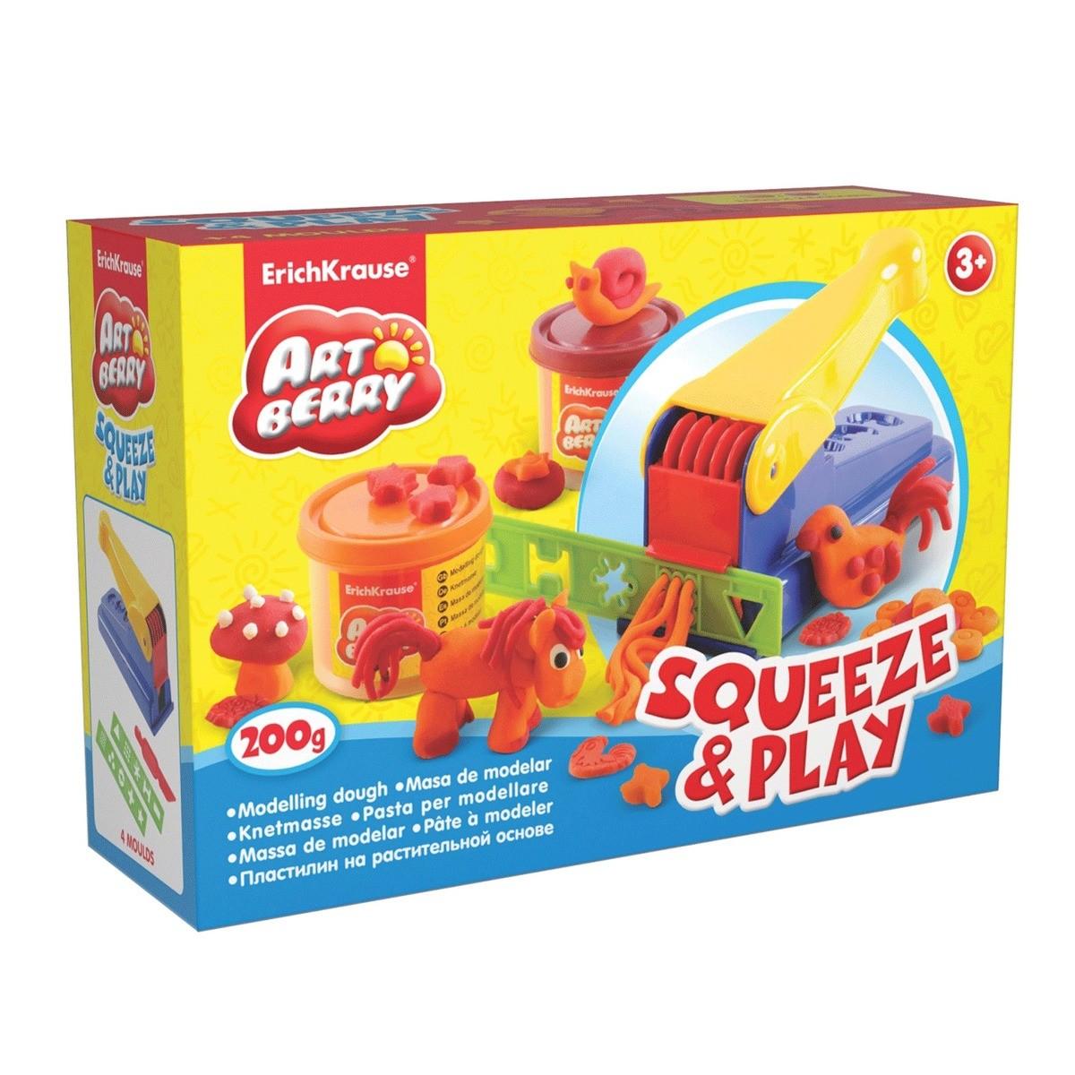 Средний набор для лепки Artberry - Выжимай и играй /Squeeze & Play с пластилином на растительной основе