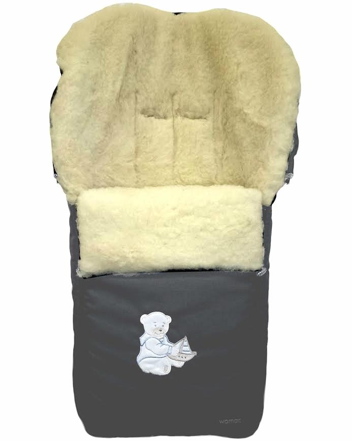 Спальный мешок в коляску №06 – Aurora. Графитовый 11