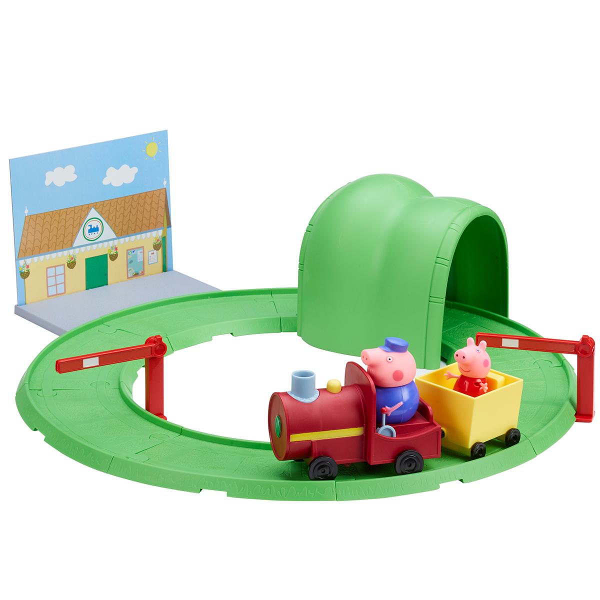 Игровой набор ™Peppa Pig - Паровозик с туннелемЖелезная дорога для малышей<br>Игровой набор ™Peppa Pig - Паровозик с туннелем<br>