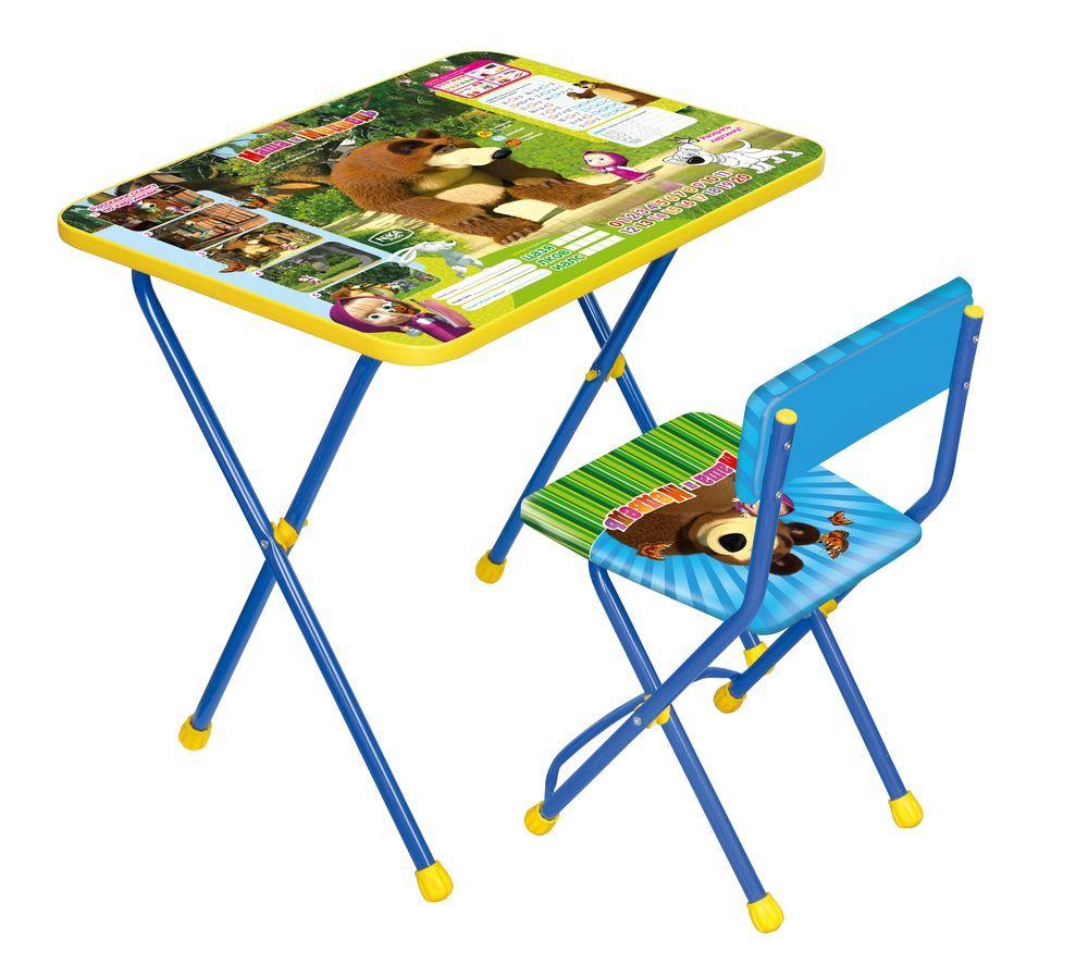 Набор детской мебели из серии Маша и медведь - Позвони мне, синийИгровые столы и стулья<br>Набор детской мебели из серии Маша и медведь - Позвони мне, синий<br>