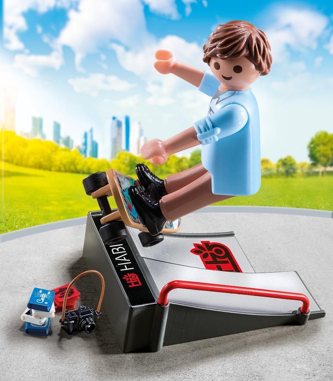Купить Экстра-набор - Скейтбордист с пандусом, Playmobil