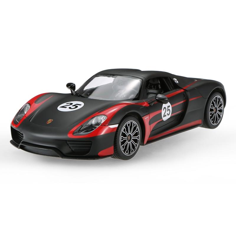 картинка Машина на радиоуправлении Porsche 918 Spyder, цвет чёрный матовый, 1:14 от магазина Bebikam.ru