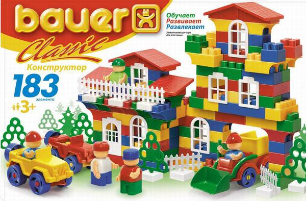 Конструктор Classik New, 183 элемента - Конструкторы Bauer Кроха (для малышей), артикул: 127326