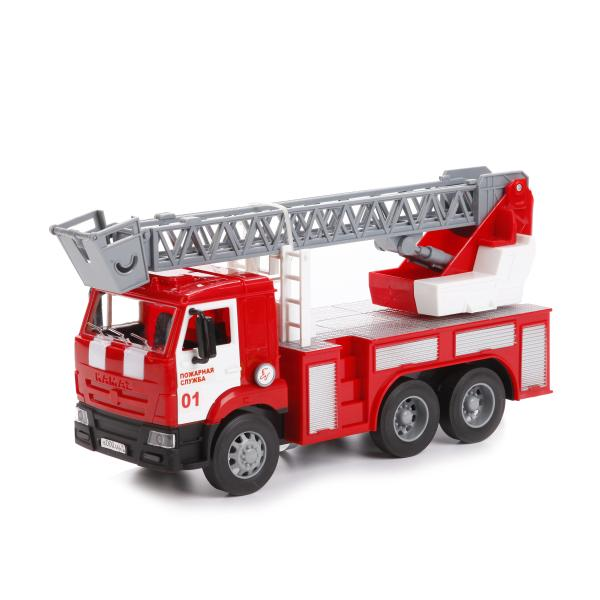 Купить Инерционная пожарная машина – Камаз, со светом и звуком, Технопарк