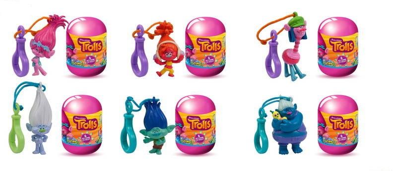 Капсула с фигуркой-брелоком - TrollsТролли игрушки<br>Капсула с фигуркой-брелоком - Trolls<br>