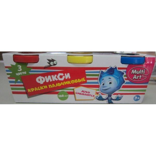 Пальчиковые краски - Фиксики, 3 штуки от Toyway