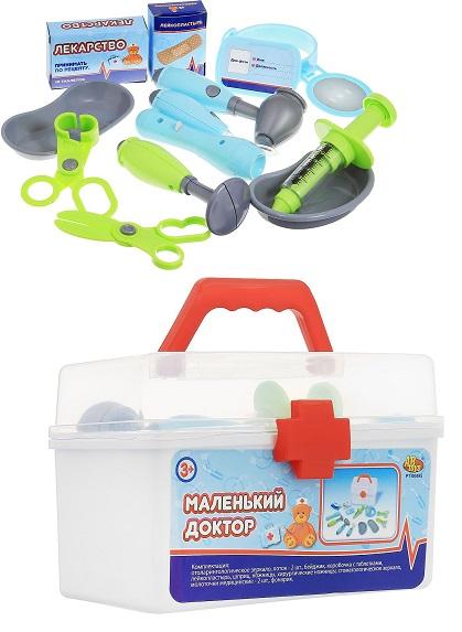 Игровой набор Маленький доктор, 13 предметов, в чемодане - Наборы доктора детские, артикул: 153941