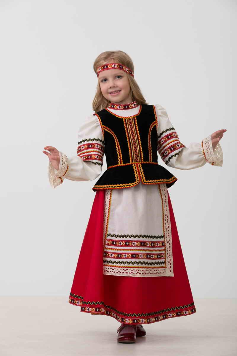 Карнавальный костюм для девочек - Славянский костюм, размер 122-64