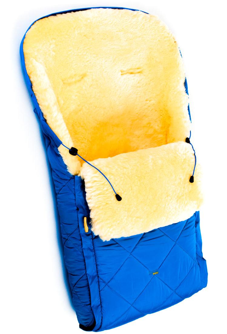 Купить Детский меховой конверт из натуральной овчинки – Baby Classic Blue, Ramili