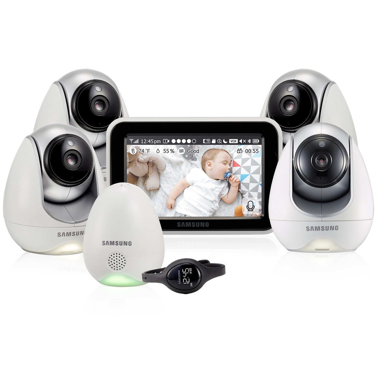 Видеоняня Samsung SEW-3057WPX4, с 4 камерами