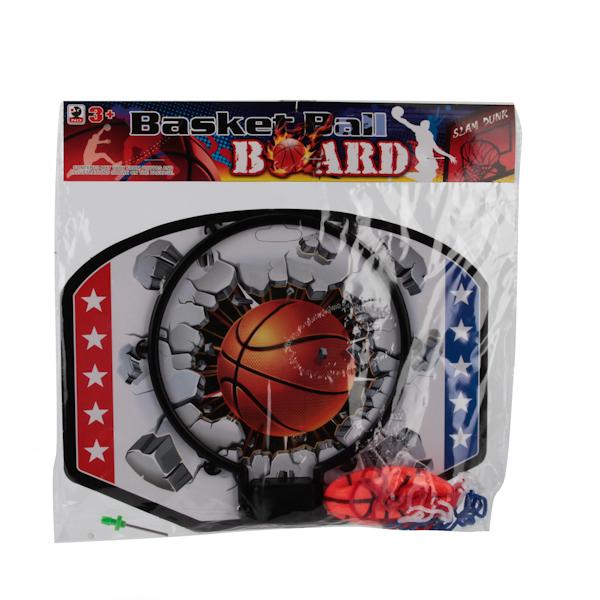 Набор для игры в баскетбол с насадкой для надувания мячикаБаскетбол, бадминтон, теннис<br>Набор для игры в баскетбол с насадкой для надувания мячика<br>