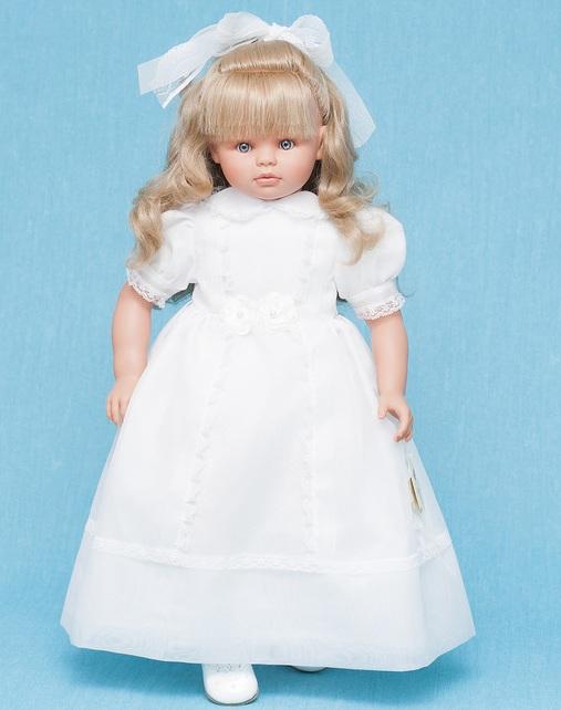 Кукла Пепа с белым бантиком, 60 см.Куклы ASI (Испания)<br>Кукла Пепа с белым бантиком, 60 см.<br>
