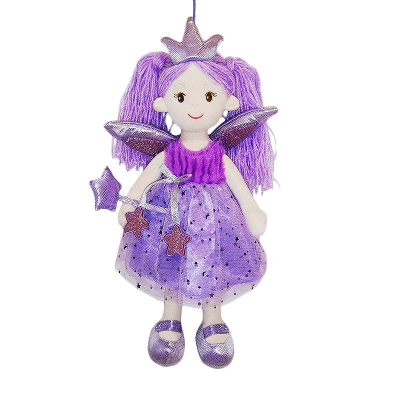 Купить Кукла мягконабивная Фея в фиолетовом платье, 45 см, ABtoys