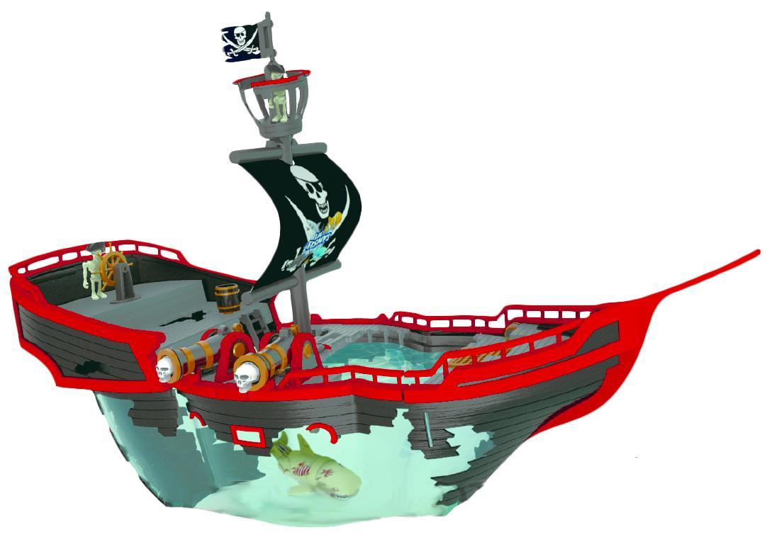 Море чудес  Пиратский корабль с акулой акробат - РобоЧЕРЕПАШКИ, робоРЫБКИ, артикул: 102103