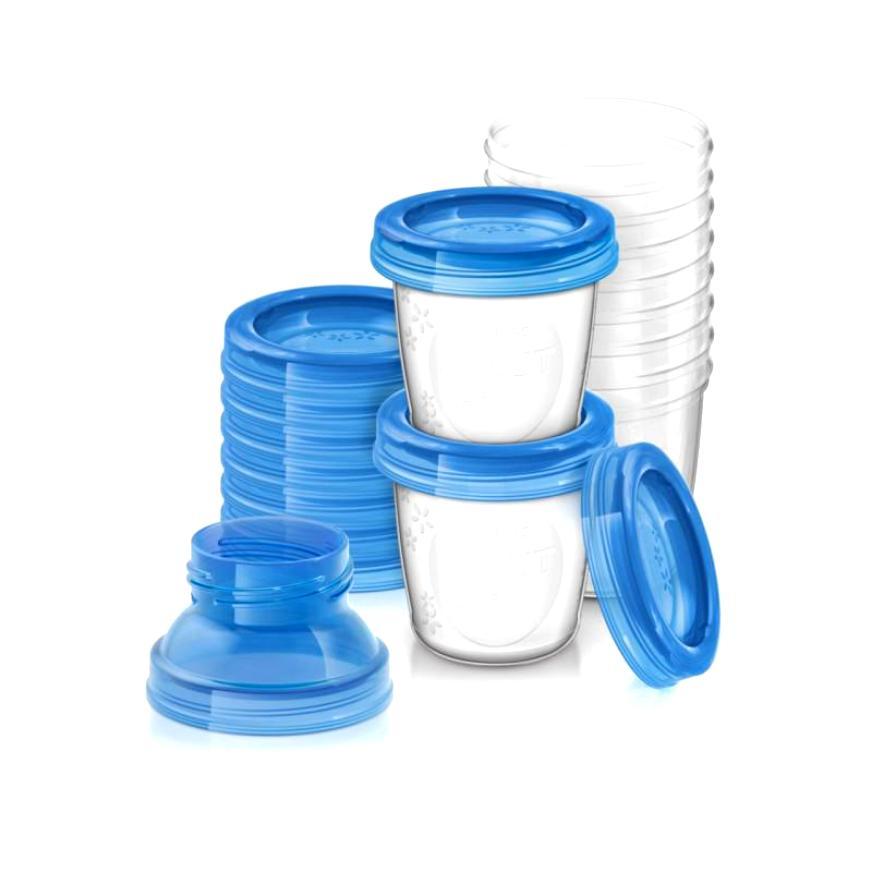 Набор контейнеров для хранения молока, 10 шт. по 180 мл. SCF618/10Контейнеры<br>Набор контейнеров для хранения молока, 10 шт. по 180 мл. SCF618/10<br>