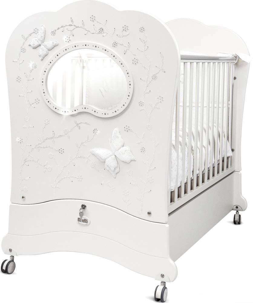 Кровать детская Feretti Fms Oblo Charme Brillante Bianco/WhiteДетские кровати и мягкая мебель<br>Кровать детская Feretti Fms Oblo Charme Brillante Bianco/White<br>