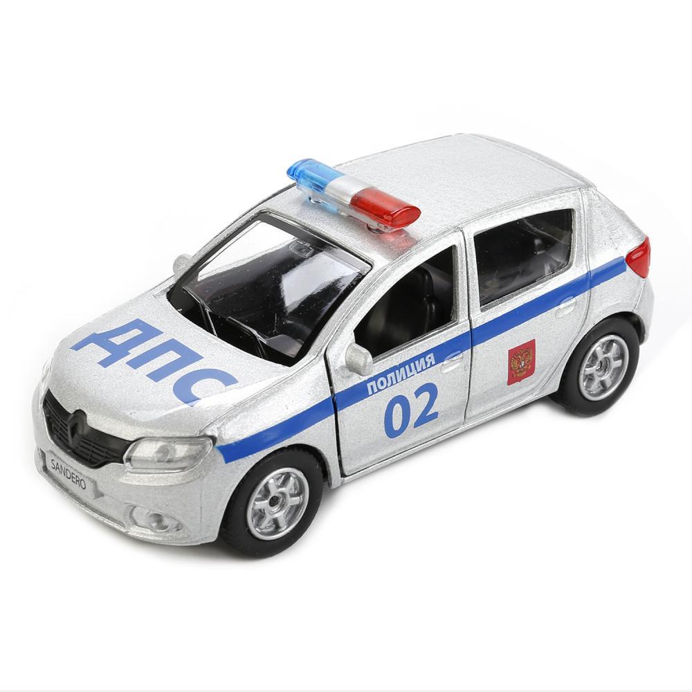 Купить Renault Sandero Полиция - металлическая инерционная машина, 12 см, Технопарк, SB-17-61-RS-WB