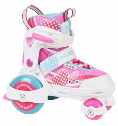 Купить Раздвижные ролики-квады Hudora - My First Quad Girl, pink, 30-33