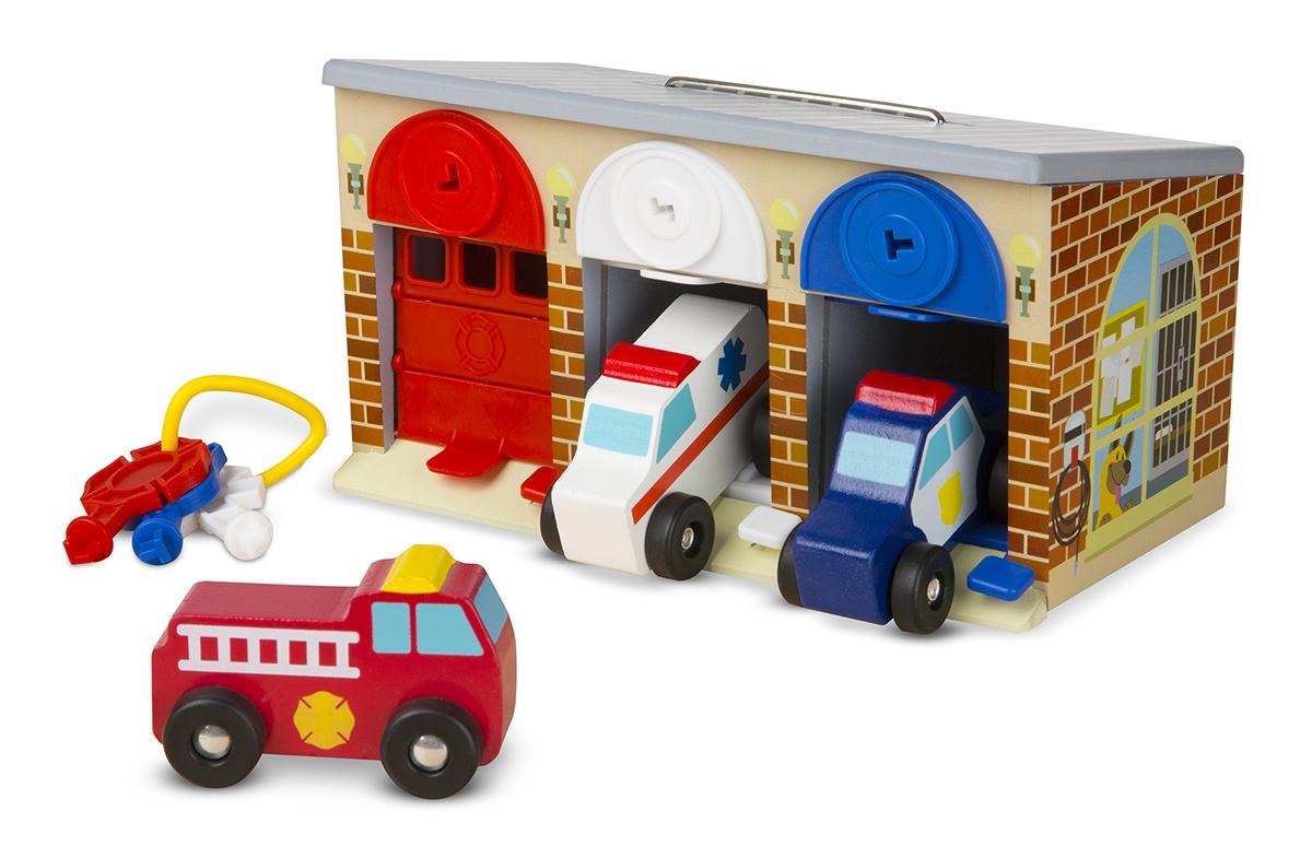 Развивающая игра - Закрой гараж на ключ из серии Первые навыкиСтучалки и сортеры<br>Развивающая игра - Закрой гараж на ключ из серии Первые навыки<br>