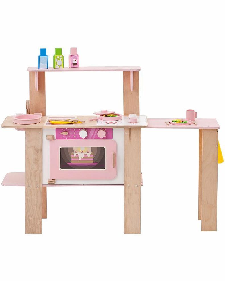 Купить Деревянная кухня-трансформер для девочек - Ванильный смузи, с 16 аксессуарами, Paremo