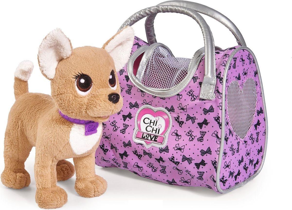 Плюшевая собачка из серии Chi-Chi love - Путешественница, с сумкой-переноской, 20 см. фото