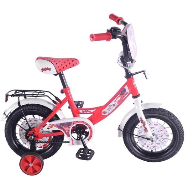 """Детский велосипед 12"""" - Lady Bug, А-тип, красно-белый"""