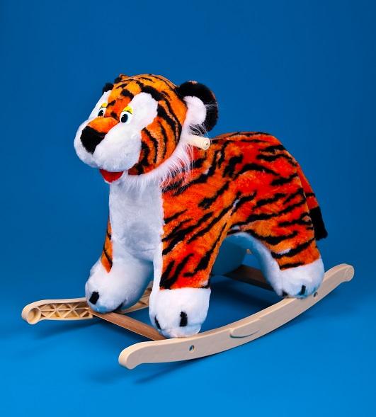 Меховая качалка. ТигрДетские кресла-качалки<br>Меховая качалка. Тигр<br>