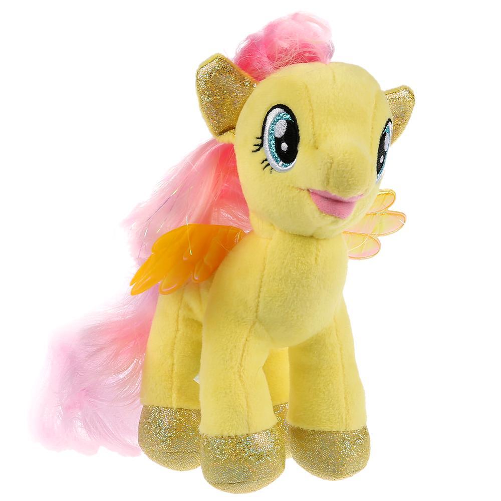 Купить Игрушка мягкая из серии Мой маленький пони - Флаттершай 18 см, без чипа, Мульти-Пульти