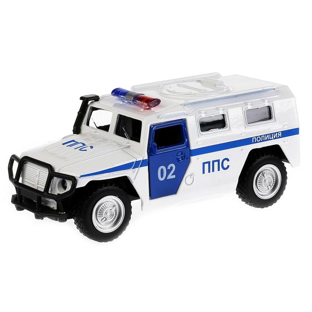 Купить Машина металлическая инерционная Газ Тигр Полиция, Технопарк