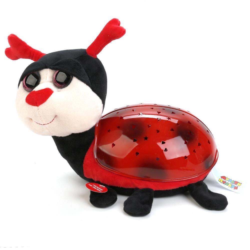 Купить Мягкая игрушка проектор-ночник - Божья коровка, 7 колыбельных, Мульти-Пульти