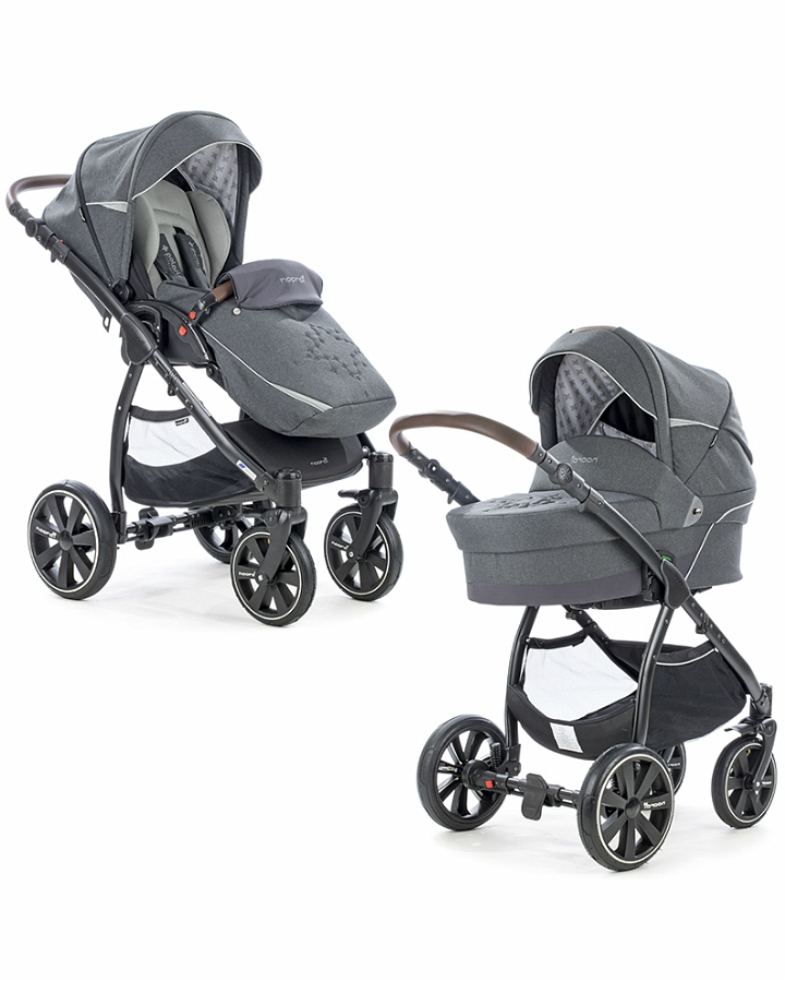 Коляска детская Noordi Polaris Comfort 2/1, сераяДетские коляски 2 в 1<br>Коляска детская Noordi Polaris Comfort 2/1, серая<br>