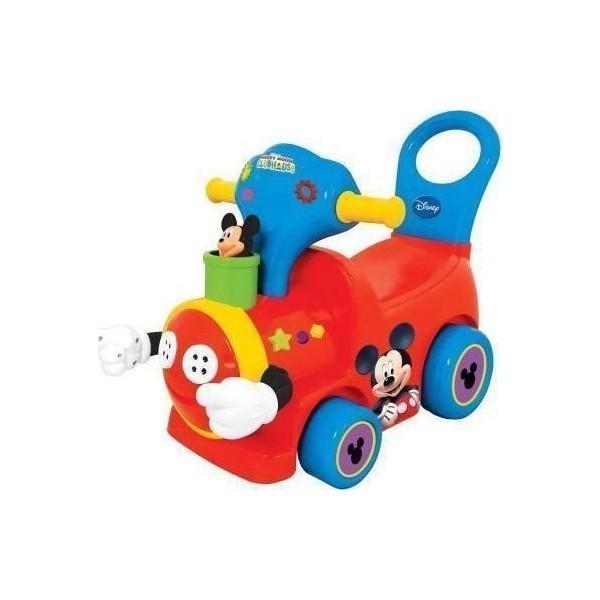 Каталка - пушкар Поезд с Микки МаусомМашинки-каталки для детей<br>Каталка - пушкар Поезд с Микки Маусом<br>