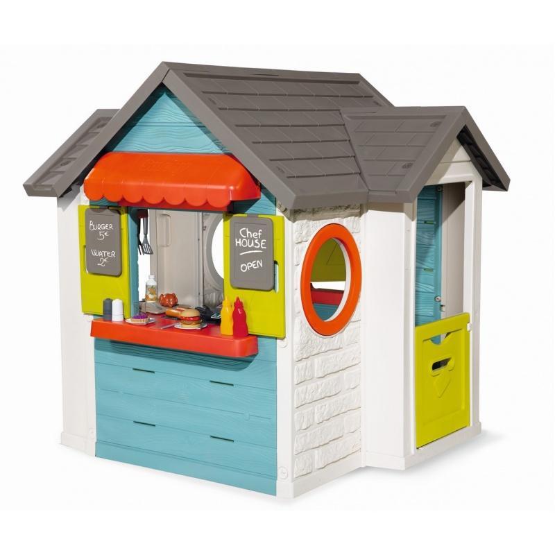 Домик детский для улицы 3 в 1 - Садовый домик, ресторан и магазин