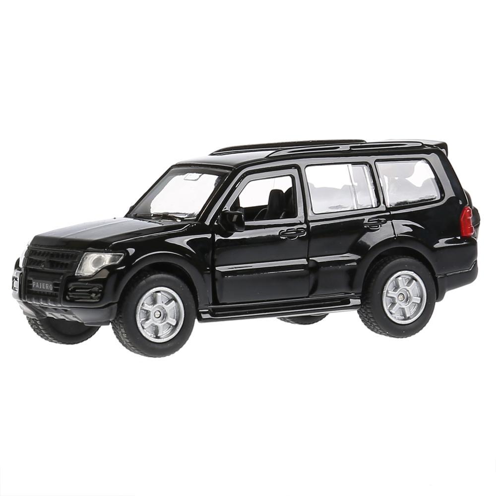 Купить Модель Mitsubishi Pajero, 12 см, открываются двери, инерционная, черный -WB), Технопарк