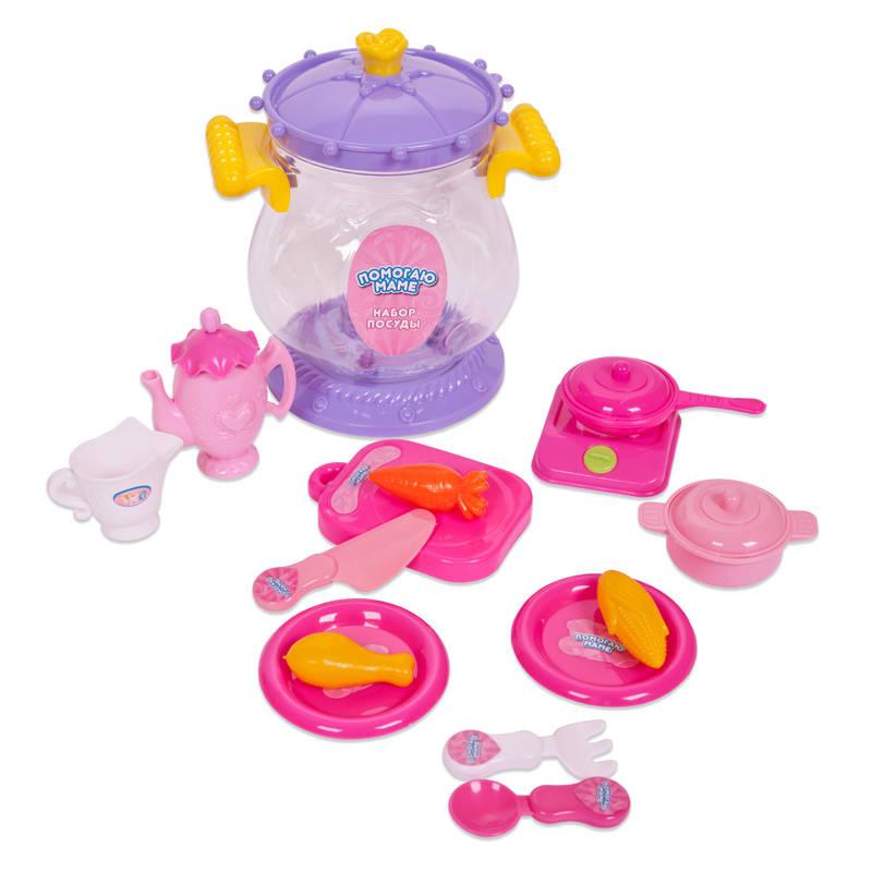Набор посуды для чаепития из серии Помогаю Маме, 16 предметовАксессуары и техника для детской кухни<br>Набор посуды для чаепития из серии Помогаю Маме, 16 предметов<br>
