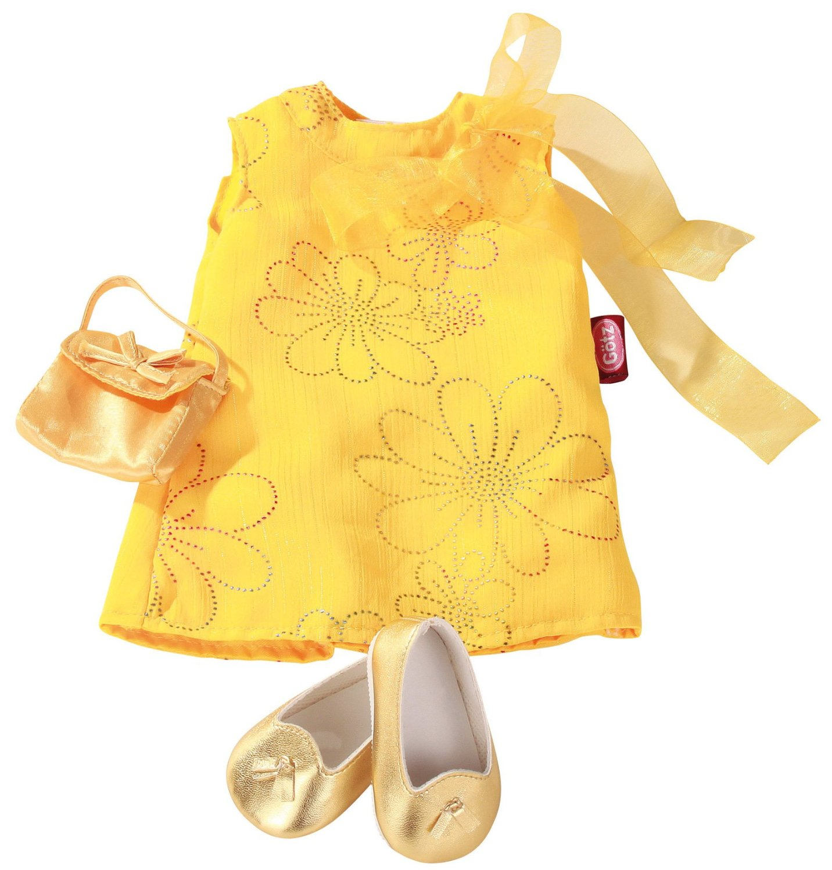 Набор одежды, желтый, 3 предмета 45-50 см фото